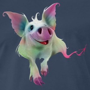 Psychedelic colorful Pig