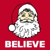 Santa Believe - For a Red Background - Men's Premium T-Shirt