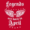 04 Legends are born in April Happy Birthday - Men's Premium T-Shirt