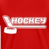 Hockey Dad (stick and puck design) - Men's Premium T-Shirt