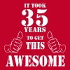 35th Birthday Get Awesome T Shirt Made in 1982 - Men's Premium T-Shirt