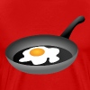 Fried egg in frying pan - Men's Premium T-Shirt