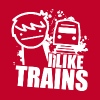 I like trains - Men's Premium T-Shirt