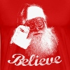 Santa Claus Believe Monochrome - Men's Premium T-Shirt