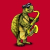Jazz Saxophone Turtle - Men's Premium T-Shirt