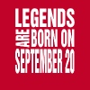 Legends are born on September 20 - Men's Premium T-Shirt