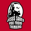 Jesus saves you from thinking - Men's Premium T-Shirt