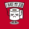 I hate my job - Toiletpaper pixel - Men's Premium T-Shirt