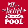 My heart is on that pool - Men's Premium T-Shirt
