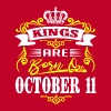 Kings are born on October 11 - Men's Premium T-Shirt