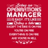 Being An Operations Manager Is Easy Tshirt - Men's Premium T-Shirt
