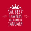 Best LAWYERS are born in january - Men's Premium T-Shirt