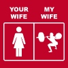 Your Wife My Wife Squats Lifting - Men's Premium T-Shirt