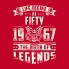 Life Begins at Fifty Legends 1967 for 2017 - Men's Premium T-Shirt
