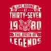 Life Begins at Thirty-Seven Legends 1980 for 2017 - Men's Premium T-Shirt