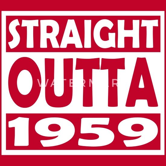 58th Birthday T Shirt Straight Outta 1959 Men's Premium T