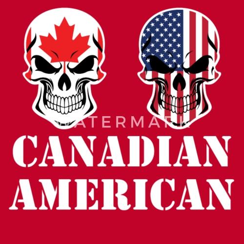 085914c3466 Canadian American Flag Skulls Men s Premium T-Shirt