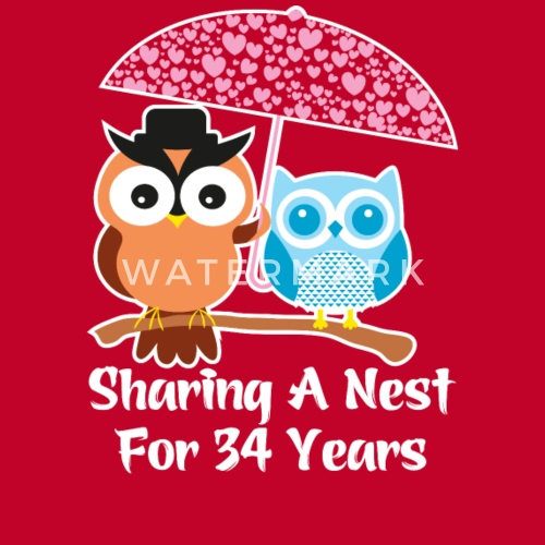 34 Years Wedding Anniversary Gifts Presents By Ilovemytshirt Spreadshirt