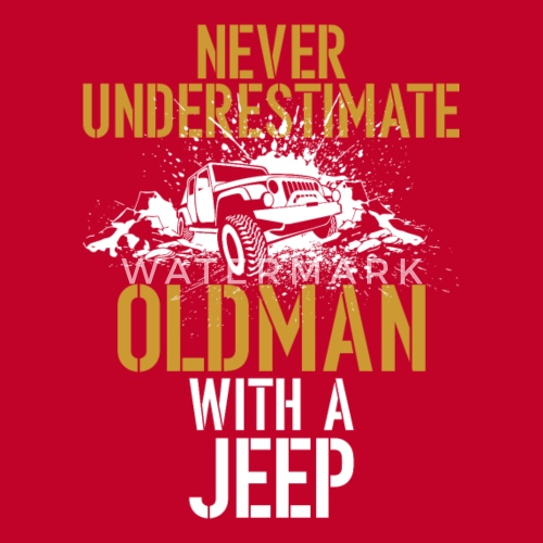 ff4131043e6 Never Underestimate An Old Man With A Jeep 02 Men s Premium T-Shirt