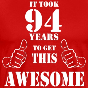 94th Birthday Get Awesome T Shirt Made in 1923 - Men's Premium T-Shirt