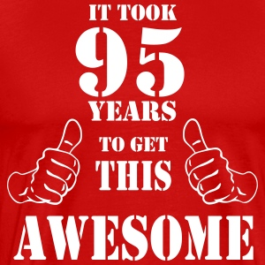 95th Birthday Get Awesome T Shirt Made in 1922 - Men's Premium T-Shirt