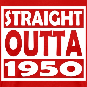 67th Birthday T Shirt Straight Outta 1950 - Men's Premium T-Shirt