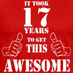17th Birthday Get Awesome T Shirt Made in 2000 - Men's Premium T-Shirt