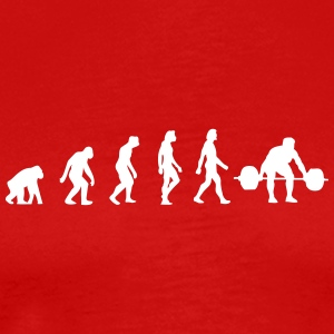 The Evolution Of Weightlifting - Men's Premium T-Shirt