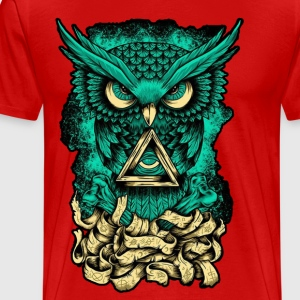 Illuminati Owl - Men's Premium T-Shirt