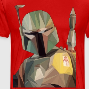 Low Poly Boba Fett - Men's Premium T-Shirt