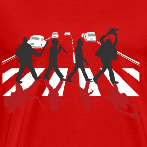 Horror Stars on Abbey Road Killer Red Halloween - Men's Premium T-Shirt