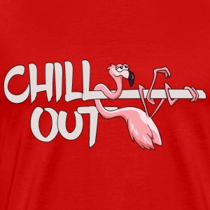 Flamingo chill out lazy funny chilling animal gift - Men's Premium T-Shirt