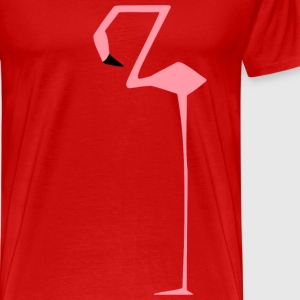 flamingo square edgy straight funny cool present - Men's Premium T-Shirt
