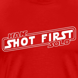 Han Solo Shot First - Men's Premium T-Shirt