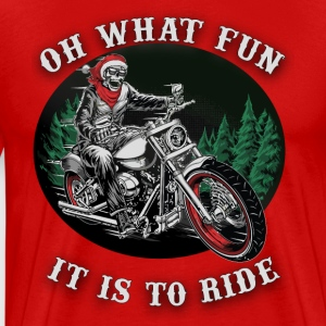 Christmas ghost rider, oh what fun it is to ride - Men's Premium T-Shirt