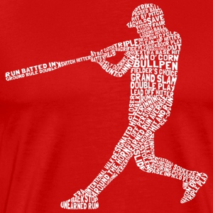 Softball Baseball Player Typography - Men's Premium T-Shirt