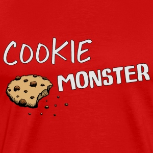 cookie monster loves cookies pastry xmas sweets - Men's Premium T-Shirt