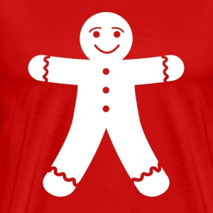 Red Christmas Gingerbread Man Shirt - Men's Premium T-Shirt