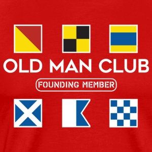 Old Man Club White Ink - Men's Premium T-Shirt