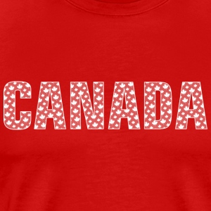 Canada Pattern-Filled Text White - Men's Premium T-Shirt