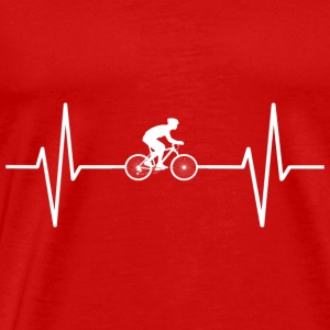 My heart beats for cycling! gift - Men's Premium T-Shirt