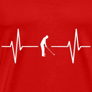 My heart beats for golf! gift - Men's Premium T-Shirt