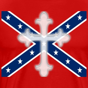 Stars and Bars Cross Confederate - Men's Premium T-Shirt