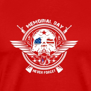 USA Memorial Day Never Forget - Men's Premium T-Shirt