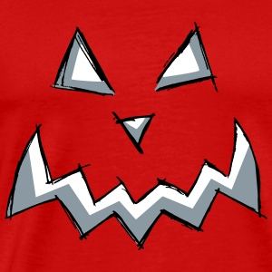 pumpkin creepy monster face halloween present cut - Men's Premium T-Shirt