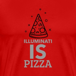 Illuminati and pizza - Men's Premium T-Shirt