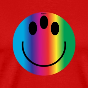 rainbow smiley - Men's Premium T-Shirt