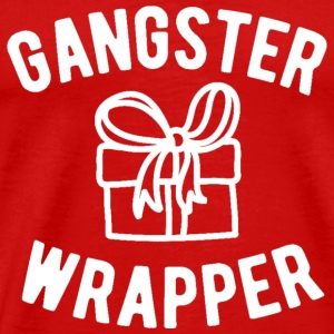 Gangster Wrapper Funny Christmas - Men's Premium T-Shirt