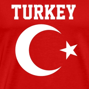 Turkish Turkey Flag Crescent Moon and Star - Men's Premium T-Shirt