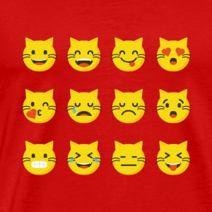 Cute Cat Emojis tshirt - Funny Cat Christmas gift - Men's Premium T-Shirt